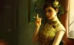 Chinese Woman Smoking