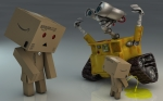 Danbo And Wall-E3