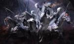Dark Skeletons on Horses