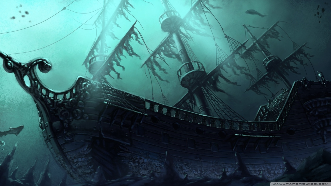 The Curse of the Annabel Lee :::: October Bombing Run - Page 3 Submerged_pirate_ship-wallpaper-1920x1080