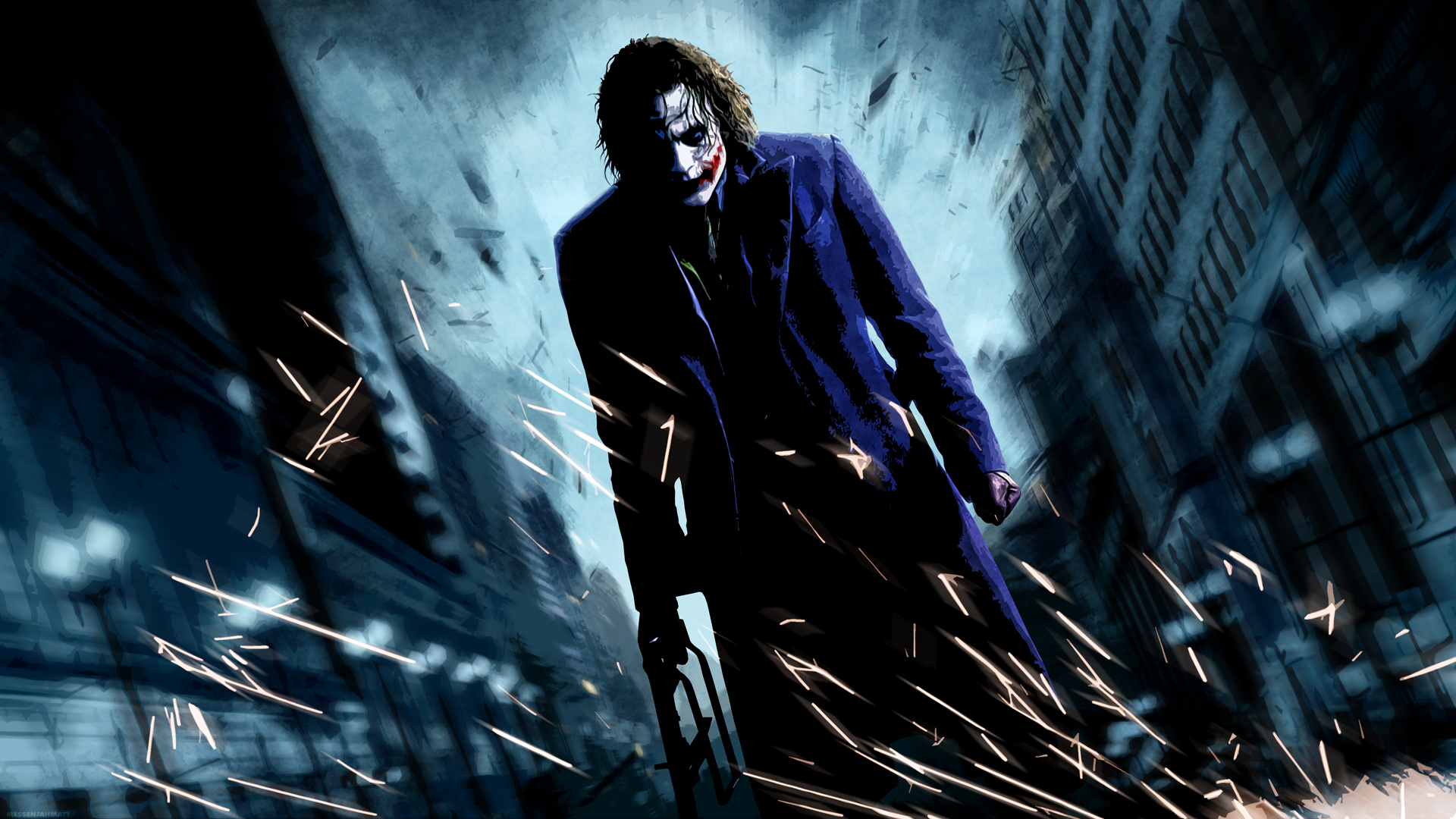 The Joker In Batman The Dark Knight Facing Batman | The ...
