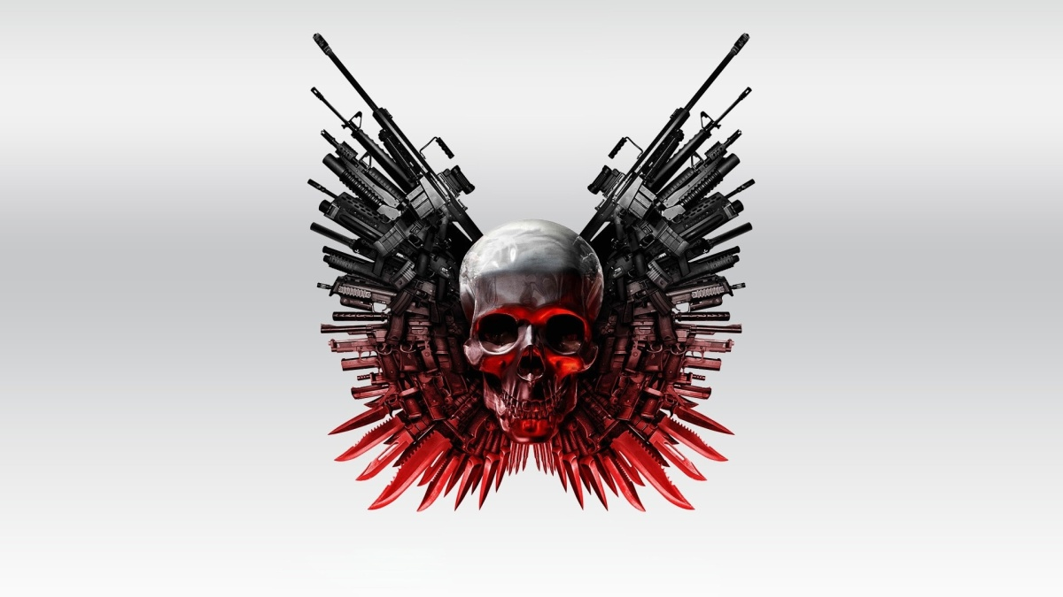 weapons & skull (the expendables 2) | the jester's corner