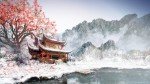 Asian Drawing Snow Landscape