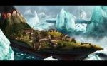 fantasy-village-on-iceberg