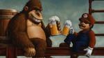 Mario Donkey Kong Drinking Beer