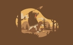 Smokey The Bear Camping