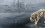 wolf_drinking_water_painting-wallpaper-2880x1800