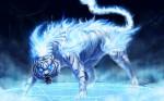 Blue Fantasy Tiger